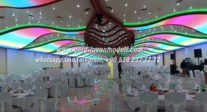 düğün salonu modelleri, düğün salonu görselleri, düğün salonu düzeni, modern düğün salonu, düğün salonu işiklandırma, gergi tavan düğün salonu, 3d düğün salonu